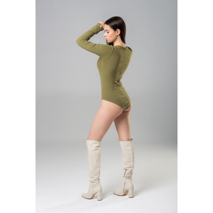 Kimberley- elegant beige bodysui
