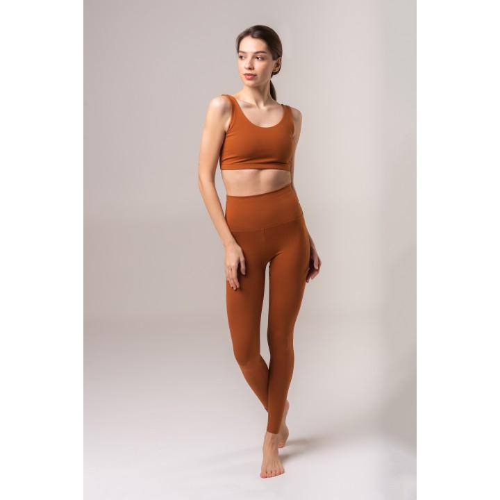 Гавана - Гатино женский спортивный комплект для йоги цвета ириски