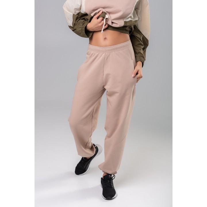Монови - трикотажные штаны нежно-розового цвета
