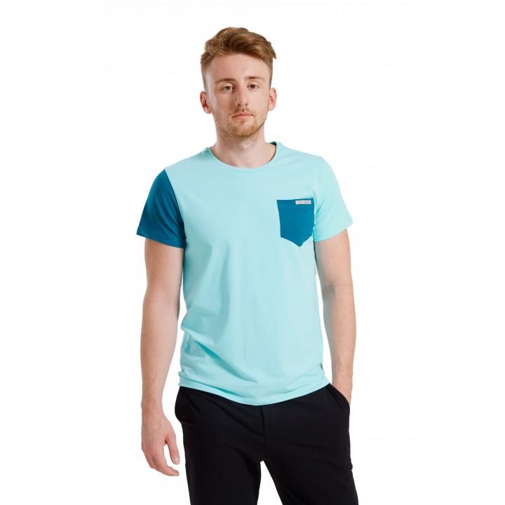 ганновер - мужская футболка с карманом на груди