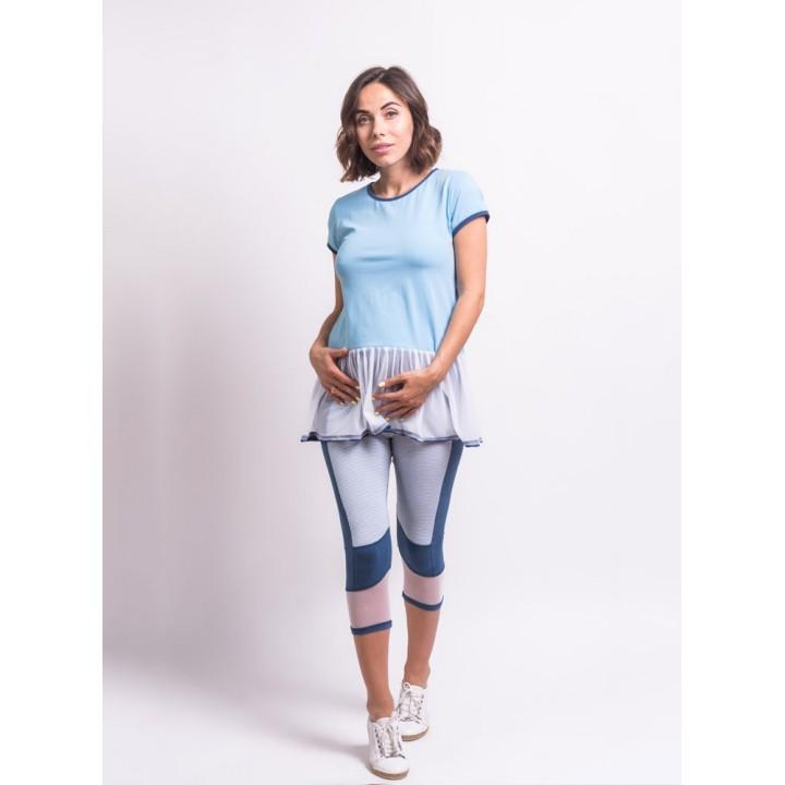 македония - футболка для беременных с сеткой