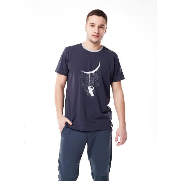Кабул - серая мужская футболка с принтом