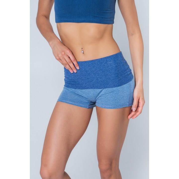 бремен - женские шорты с отворотом цвета деним