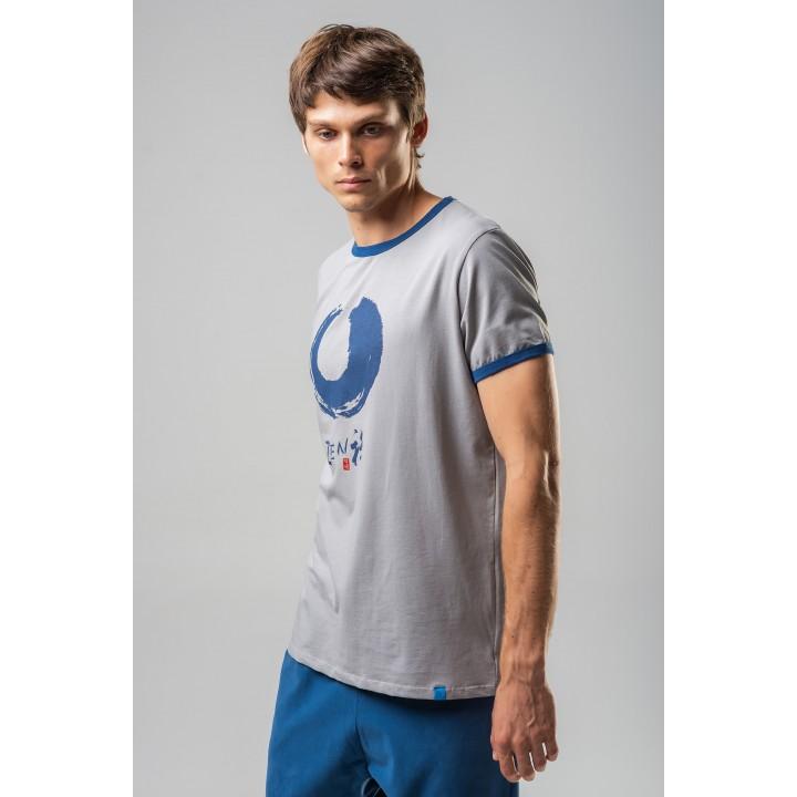 ашхабад - мужская футболка с синим  принтом