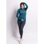 бали – лонглив с принтом «Keep calm and waiting» для беременных